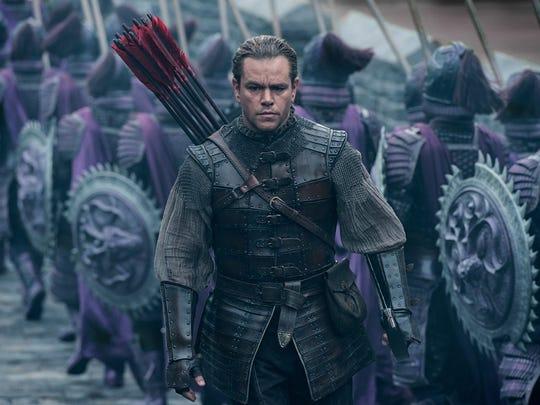 """Matt Damon in """"The Great Wall."""""""