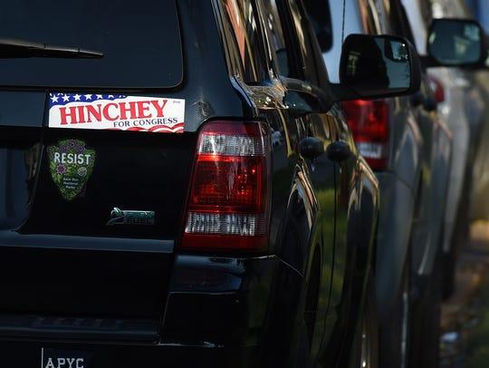 A vintage bumper sticker on car outside of Seamon-Wilsey