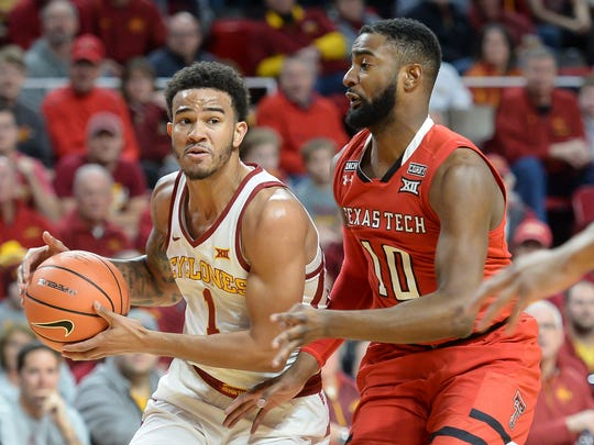 Iowa State's Nick Weiler-Babb drives against Texas