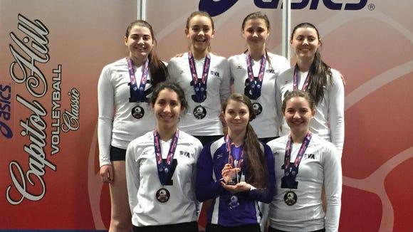 The Biltmore Volleyball Academy 17 Elite team.