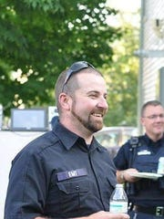 EMT Brendon Cousino, photographed July 16 at an annual Richmond Rescue Meeting. Cousino was killed in a car crash on I-89.