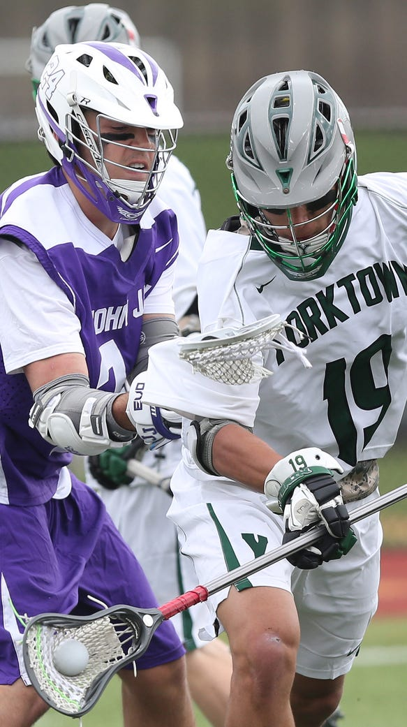 Brett Makar cames up with a turnover, helping Yorktown