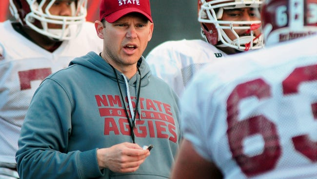 Andy Richman has left the New Mexico State football program for the offensive coordinator position at Eastern Kentucky.