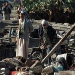 Raw: Video of airstrike damage in Yemen