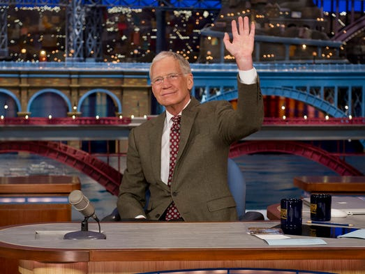 On May 20th, 2015, David Letterman will sign off of