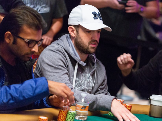 Joe Cada plays at the final table in The Closer.