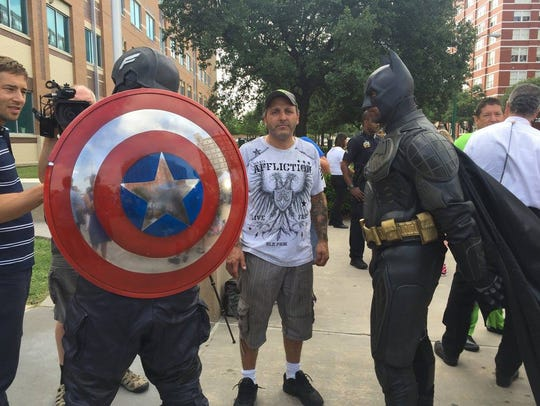 Merlin Lofton, a Dallas police officer dressed as Captain