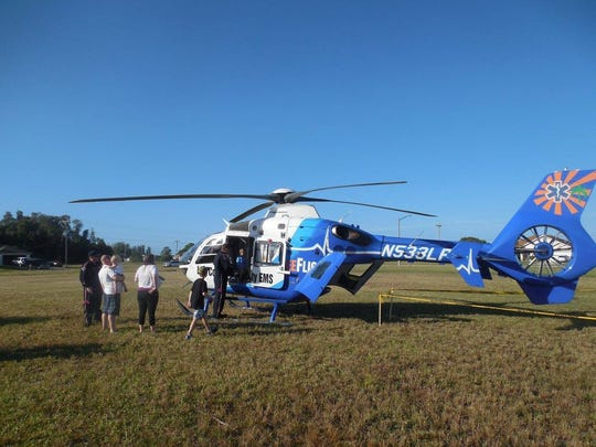LeeFlight and Lee County Mosquito Control will have helicopters on display at the Cape Coral Fire Department  open houses from 9 a.m. to noon Saturday.