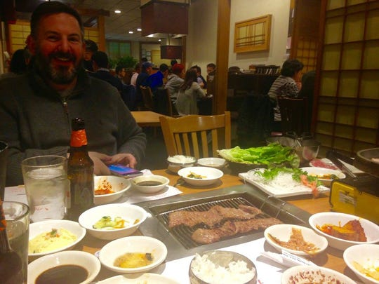 Marinated short rib served with many (included) side dishes at Kimchi Hana in South Plainfield.