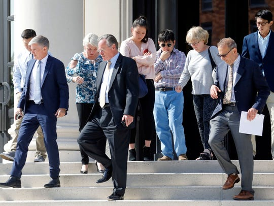 Some of the victims of accountant Mitchell Klein leave
