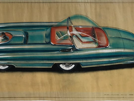 Al Mueller, dated 1956 Ford Nucleon (a proposed atomic