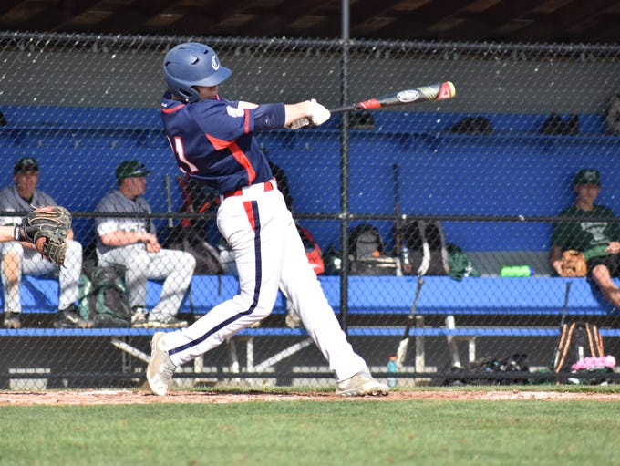 Chambersburg's Max Armstrong swings at a pitch during