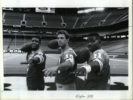 Rodney Peete Lions Pontiac Silverdome to ...