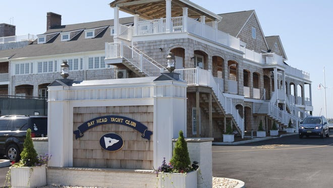 Bay Head mayor William Curtis leads a walking tour of the Bay Head Yacht Club, recently rebuilt after Sandy and the site of the new town hall—July 22, 2015-Bay Head, NJ.-Staff photographer/Bob Bielk/Asbury Park Press