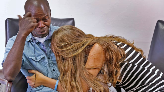 Amanda Tanner and Guan Lamont Maxie Sr. become emotional as they talk about the death of their son Major Maxie.  The couple alleges he died when put in a car seat improperly by someone responsible for his care.