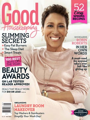 Robin Roberts covers the May issue of 'Good Housekeeping' mag.