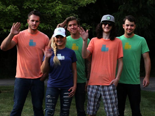 The Lawn Guru team, from left to right: Co-founder