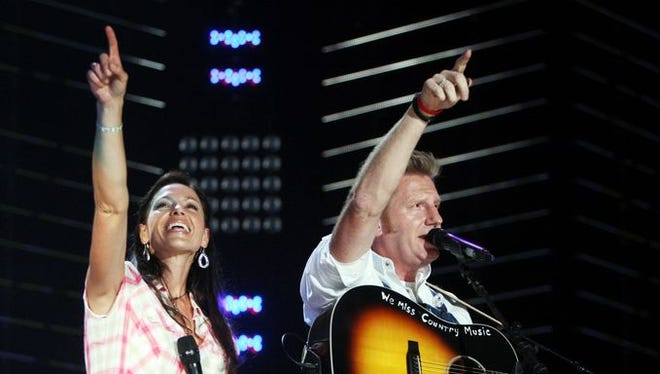 Joey + Rory perform with Zac Brown Band on the main stage during the 2010 CMA Music Festival at LP Field on June 12, 2010.