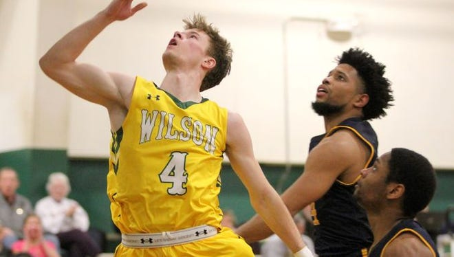 Hayesville alum Justin Gonyea (4) recently wrapped up his college basketball career at Warren Wilson.