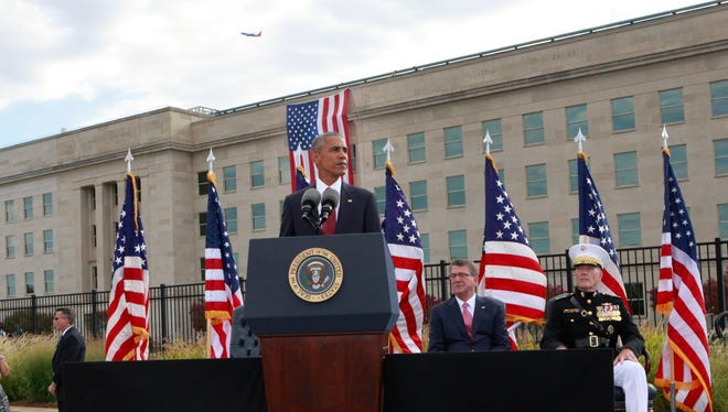 President Obama at a 9/11  ceremony at the Pentagon in 2016.