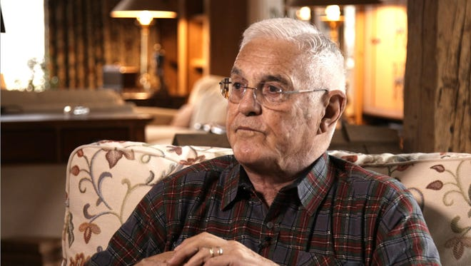 Bob Lutz, who served in top jobs at GM, Ford and FCA , offered interesting outlook on the mobility future. Lutz, 88, shown at his home on Dec. 4, 2017.