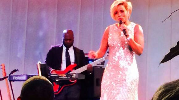 Ron Klain snapped this photo of Mary J. Blige serenading President Barack Obama at a state dinner.