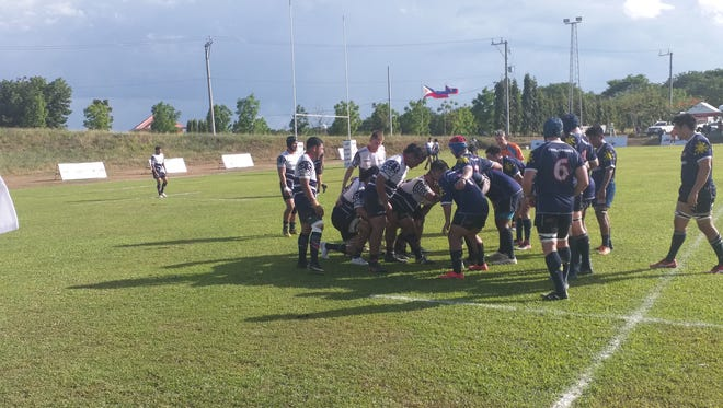 The Heineken Guam men's rugby team lost to the Philippines Residents rugby team Saturday, May 12, 2018.