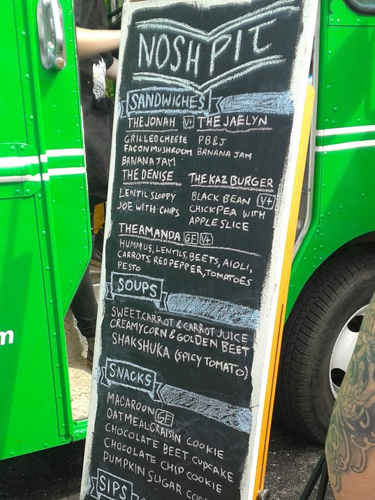 The Nosh Pit Food Truck Menu