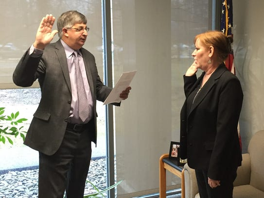 Rockland County Clerk Paul Piperato swears in Patricia