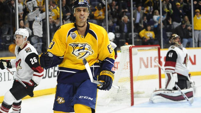 Predators center Mike Ribeiro had a goal and an assist in Nashville's 3-2 win against Minnesota on Saturday.