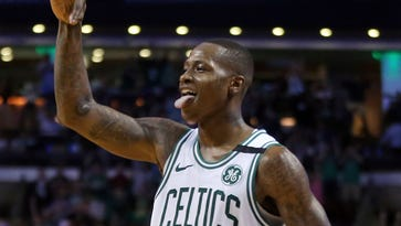 An internet lovefest comes to life as Terry Rozier, Drew Bledsoe meet