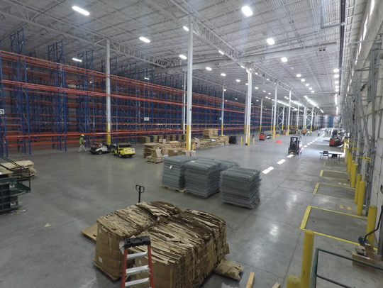 A section of the Gap Inc. distribution center is converted