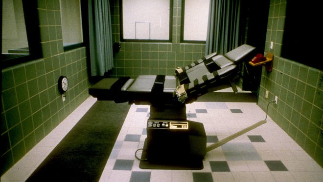 The execution room at the U.S. Penitentiary in Terre Haute, Ind., is shown in this undated file photo.