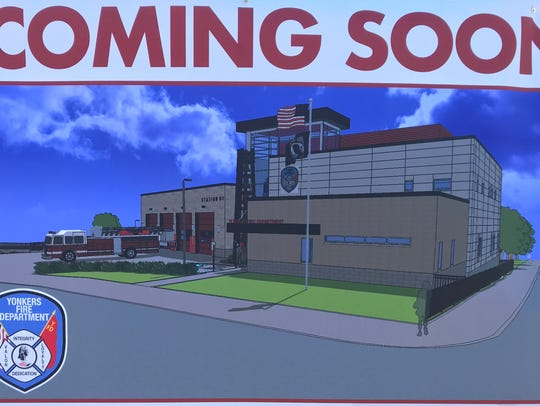 An artist rendering for the new Fire Station #1 in