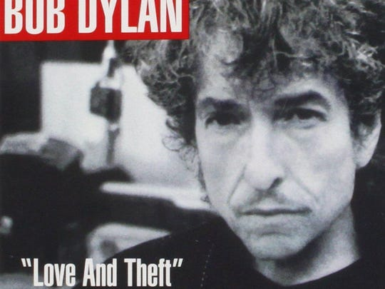 "The album cover to the 2001 Bob Dylan album ""Love and Theft."""