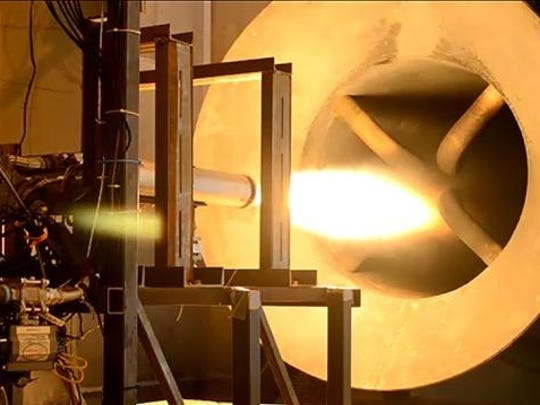 Rocket Crafters test fires its fuel system at an indoor