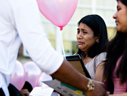Gloria Barrera, mother of shooting victim Maribel Rosales