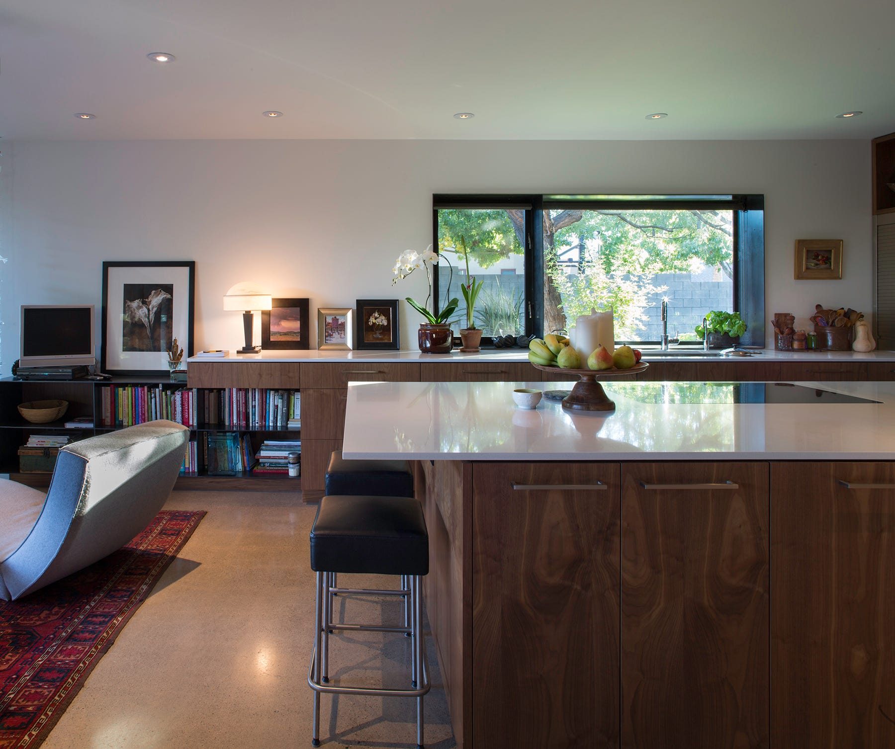 The Heinys Remodeled Kitchen Features Custom Walnut