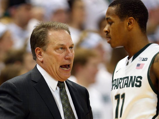 2013-10-28 Michigan State Keith Appling Tom Izzo