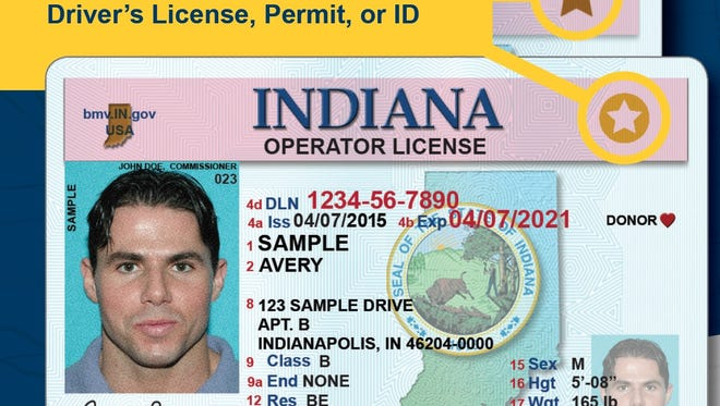 A Real ID includes a star in the upper right-hand corner of a driver's license, permit, or ID