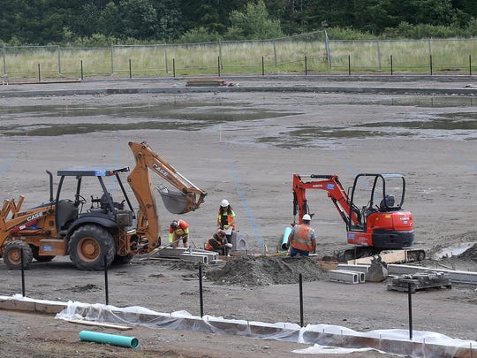 Olympic Peninsula Construction has begun work on the new turf field at Klahowya Secondary School.