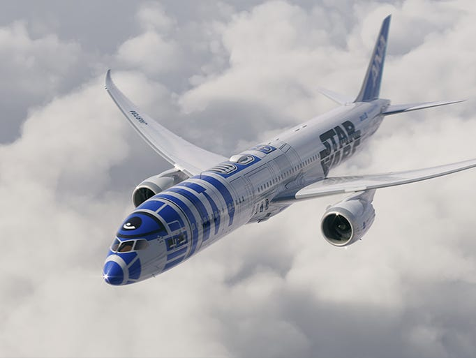 A rendering of All Nippon Airways' planned 'Star Wars'-themed
