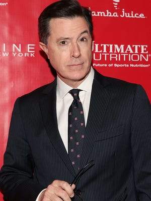 Stephen Colbert attends the Super Bowl XLVIII Party Hosted By Shape And Men's Fitness at Cipriani 42nd Street on January 31, 2014 in New York City.