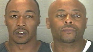 Malcolm Smith (left) and Landon Harbert were convicted last month of robbing a Check Into Cash at gunpoint in 2012.