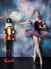 Sugarplum Fairy, danced by Rachel Miller, and the Nutcracker, in Chambersburg Ballet Theatre's production.