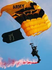 The U.S. Army Golden Knights perform on Saturday at the Florida International Air Show at Punta Gorda Airport. The show continues 9 a.m. to 4 p.m. Sunday. Various ticket packages are available. Parking is $10. The airport is located at 28000 Airport Road, Punta Gorda, off Interstate 75 exit 161. Learn more at floridaairshow.com