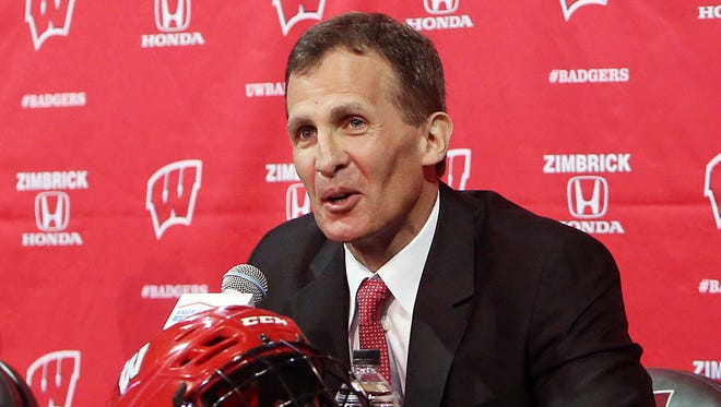 Tony Granato, who became Wisconsin's new men's hockey coach in March 2016, will lead the U.S. Olympic hockey team in February.