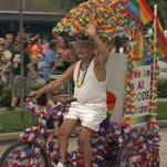Man participates in previous St. Pete Pride Parade.
