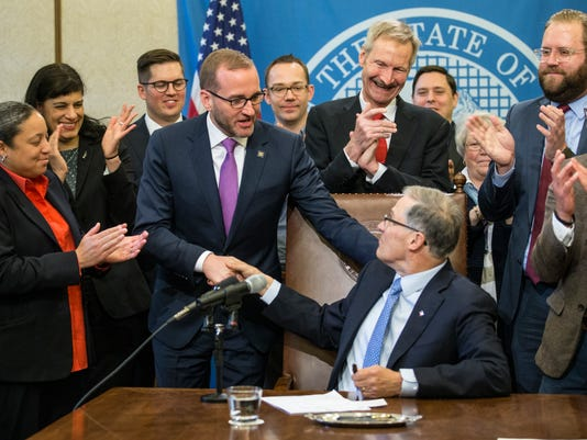 AP CONVERSION THERAPY BILL SIGNING OLYMPIA A CPACOM USA WA