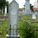The Oakland Cemetery in downtown Shreveport.